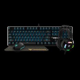 Tastatura mehanička + miš + podloga + slušalice Gamdias Hermes E1B